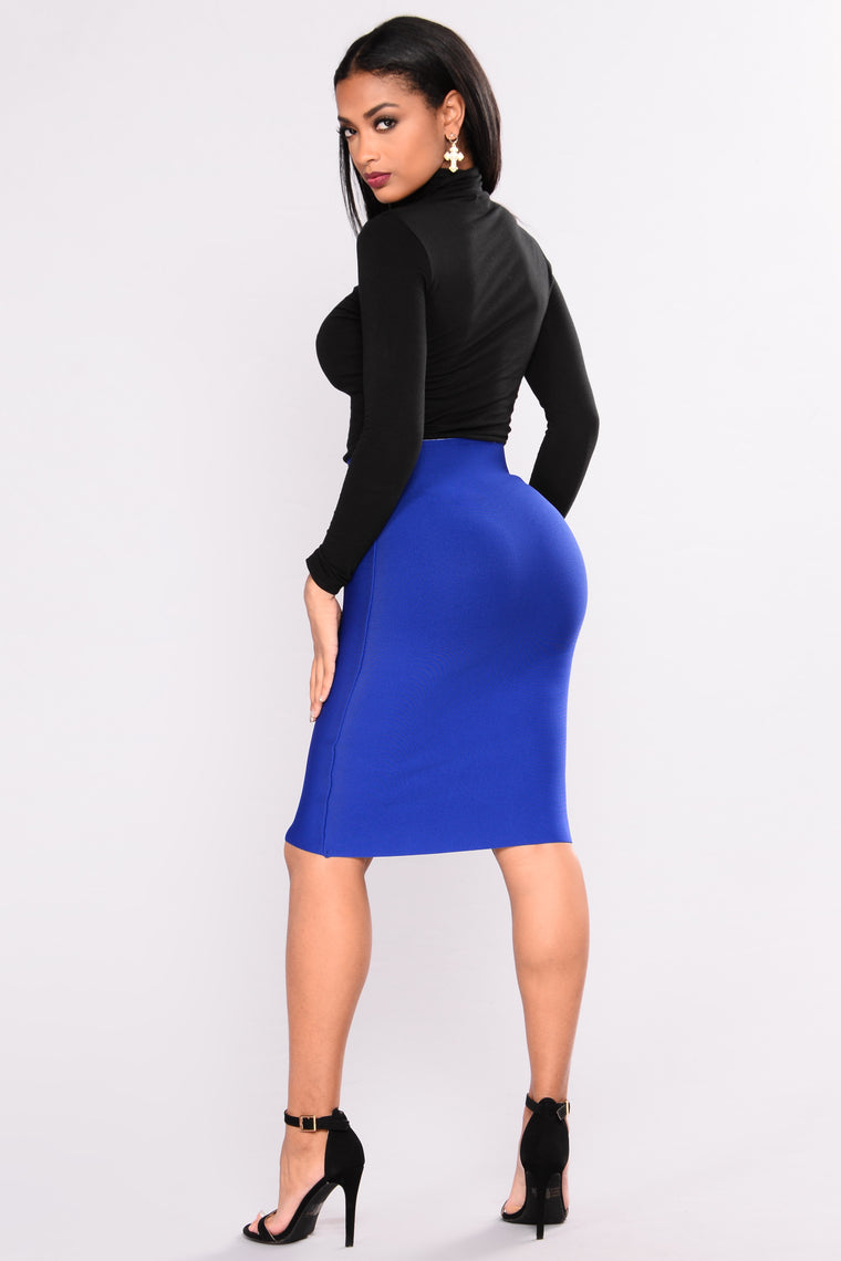 Only Necessary Bandage Skirt - Royal