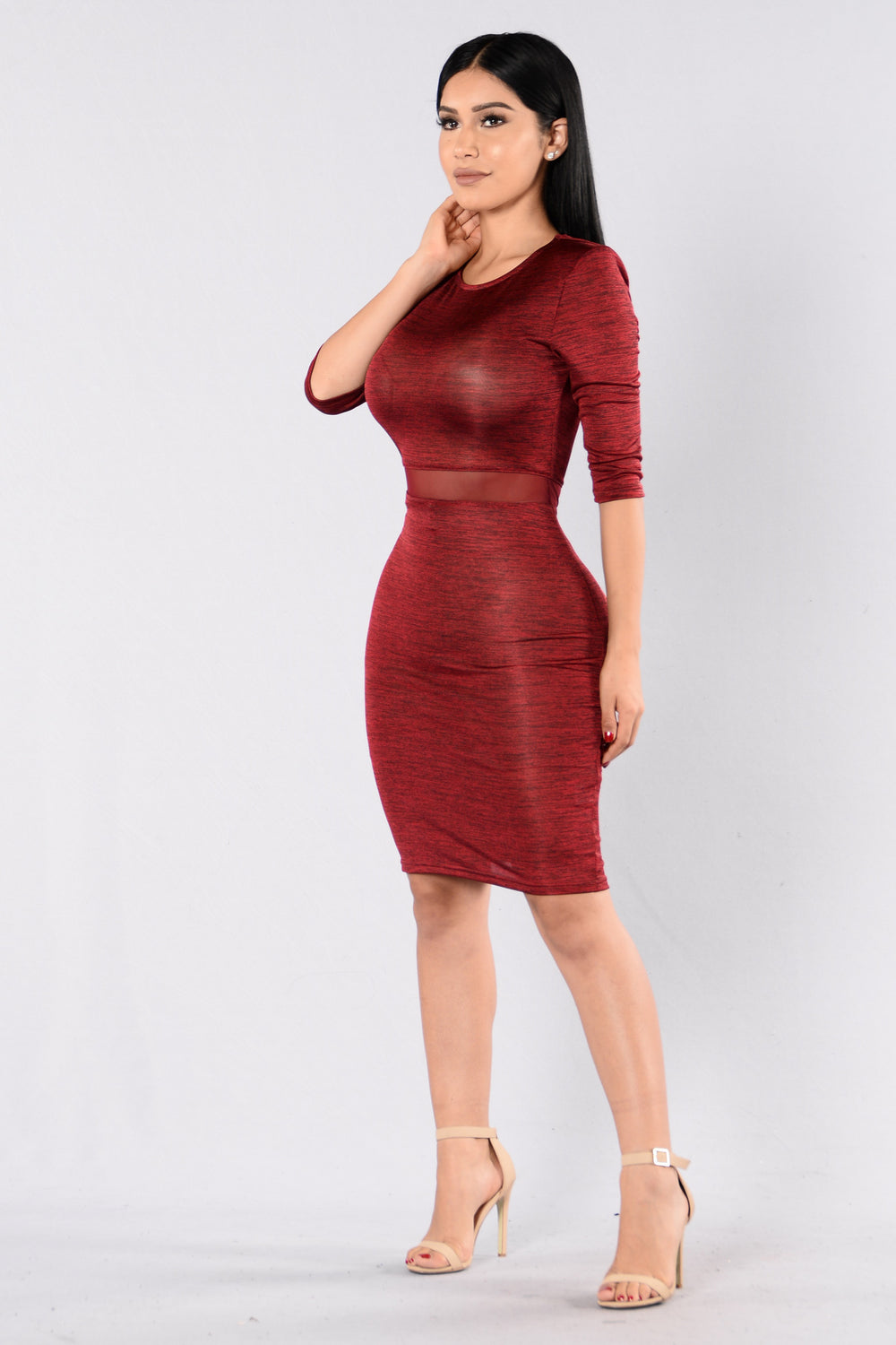 Mighty Women Dress - Burgundy