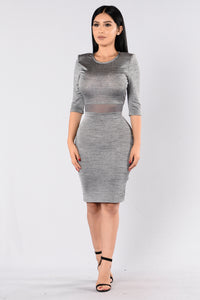 Mighty Women Dress - Grey