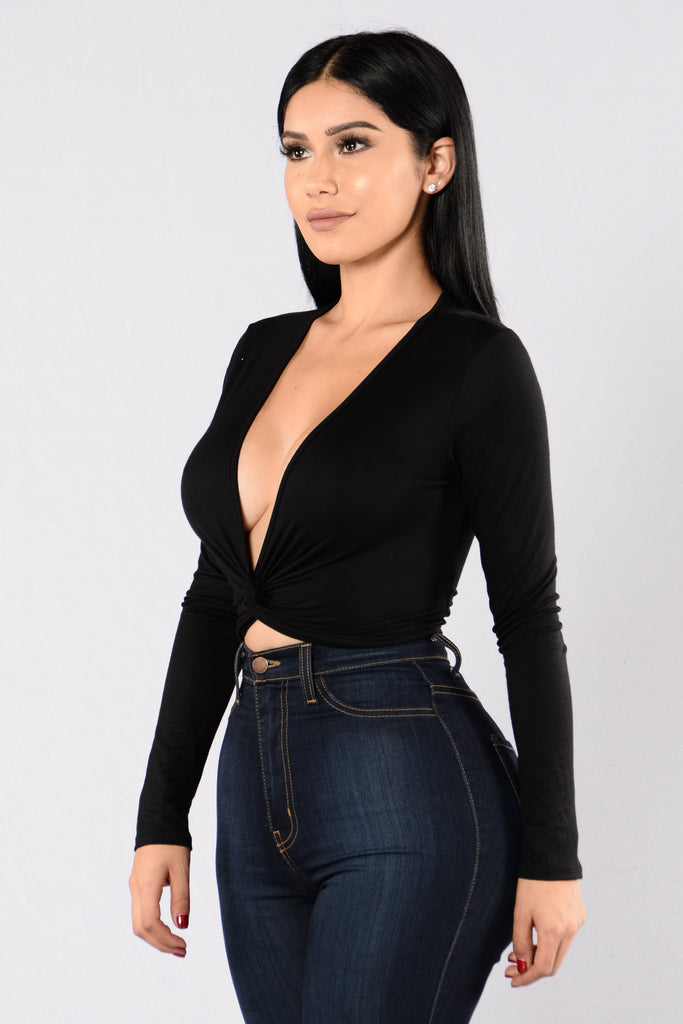 Knots Yours Top - Black