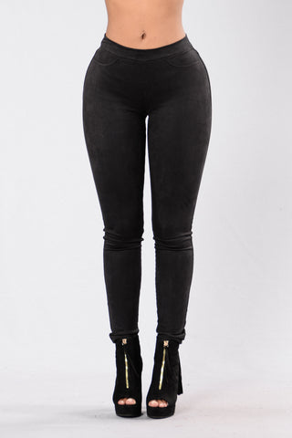 Play It Off Jeggings - Black