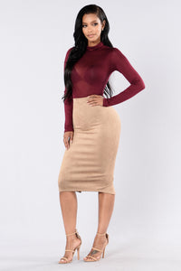Of My Dreams Skirt - Tan Angle 2