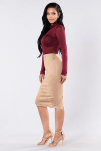 Of My Dreams Skirt - Tan Angle 6