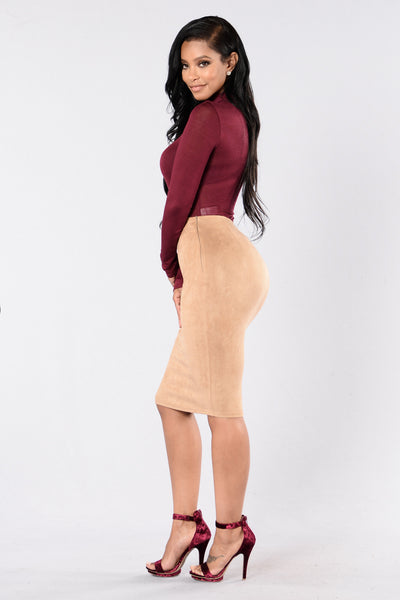 Million Miles Away Skirt - Taupe
