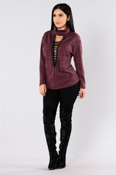 Delilah Sweater - Wine