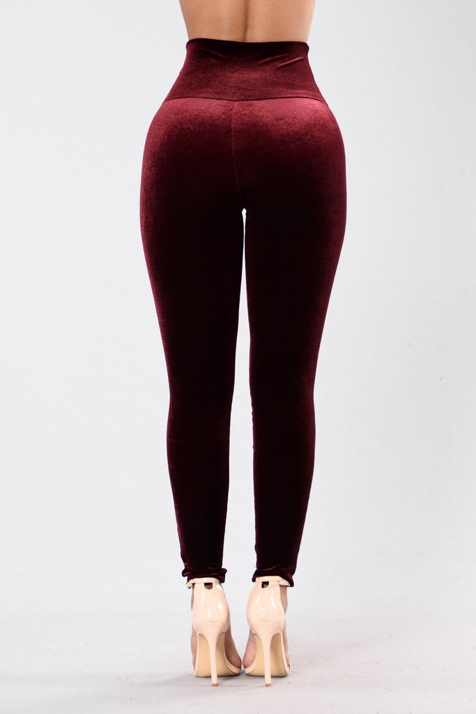 Nights Like This Leggings - Wine