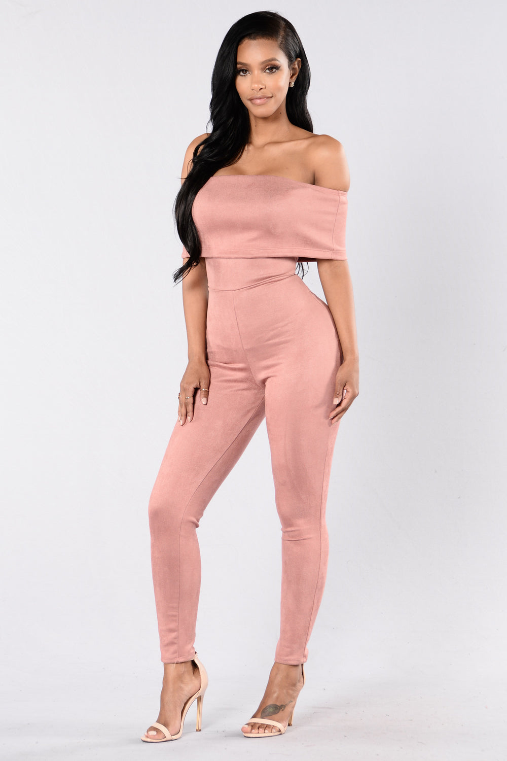 Can't Be Bothered Jumpsuit - Mauve