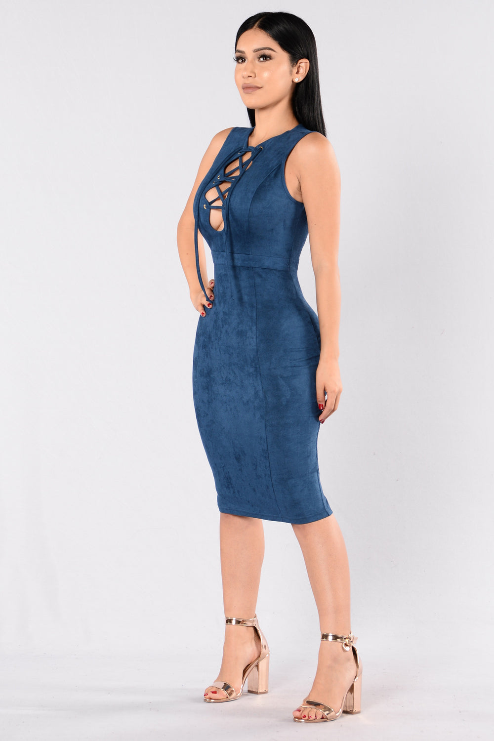 Amplify Dress - Indigo Blue
