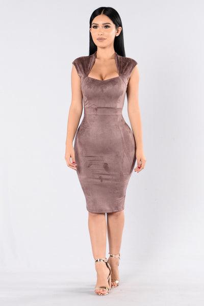 Sexy Lady Dress - Marsala
