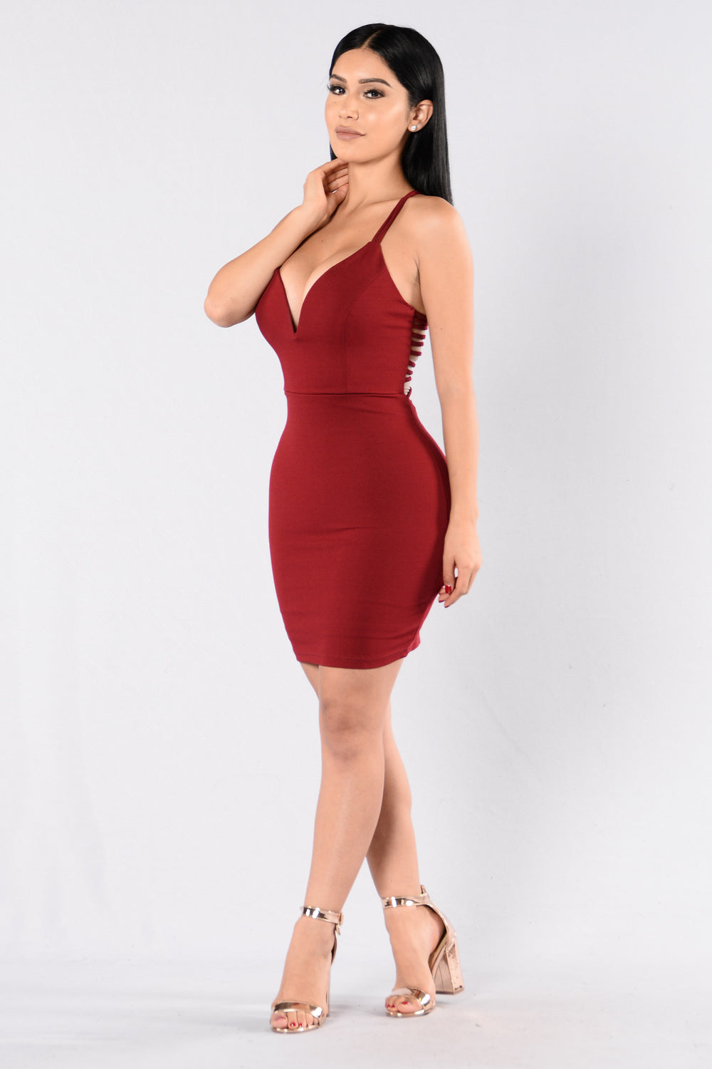 Trap Queen Dress - Burgundy