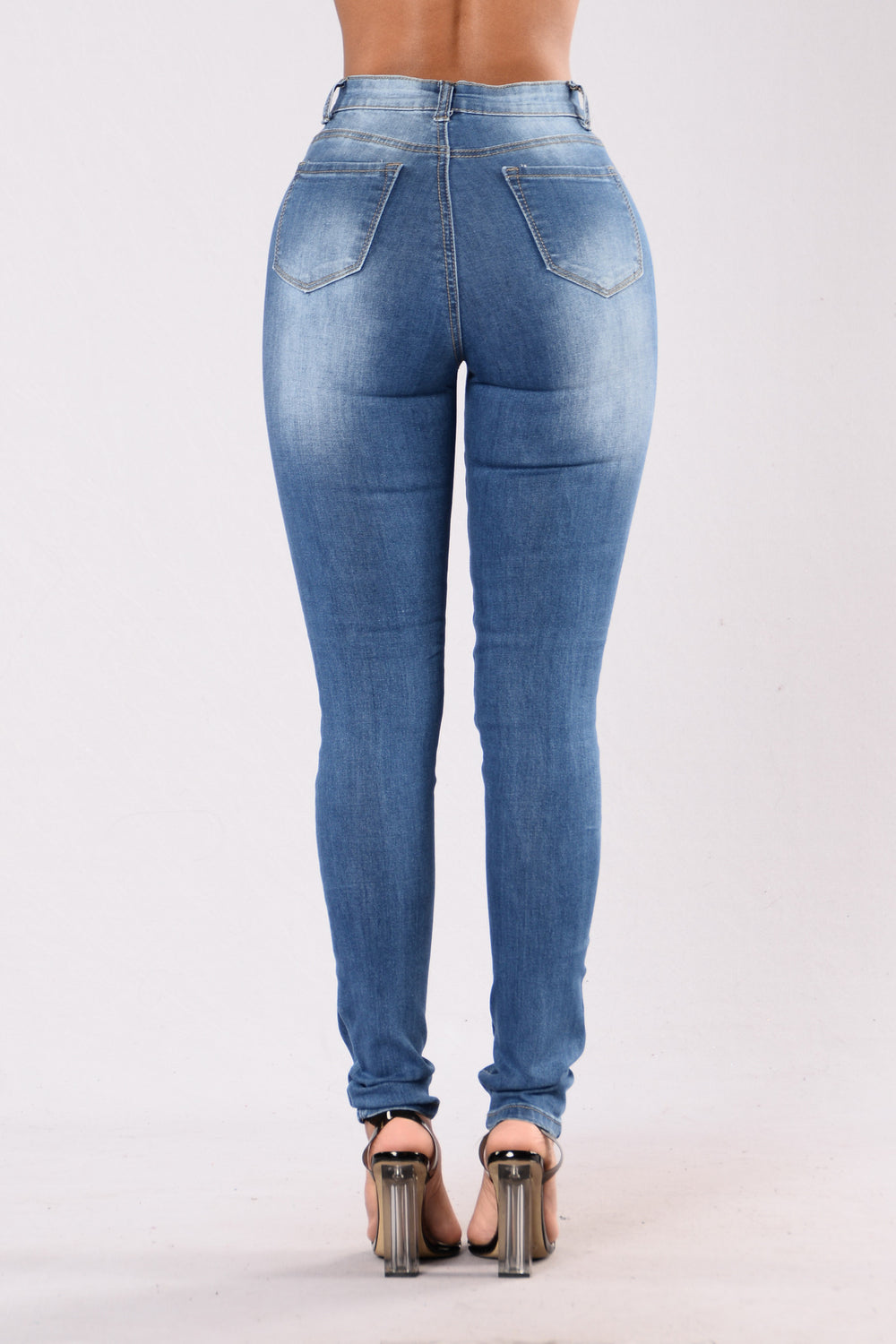 Never Forget Skinny Jean - Medium Blue