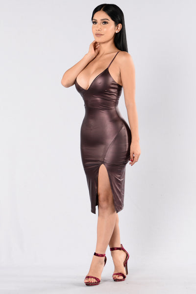 Don't Be Shy Dress - Purple