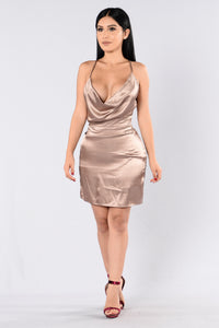 What A Fool To Fall Dress - Gold