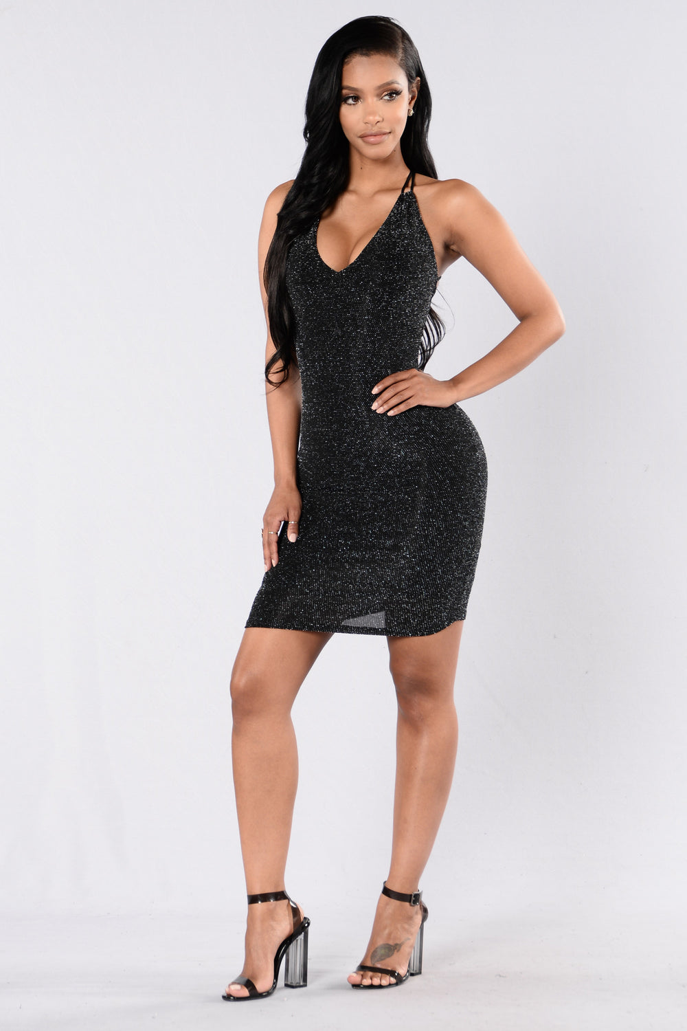 Quiet Love Dress - Black/Silver