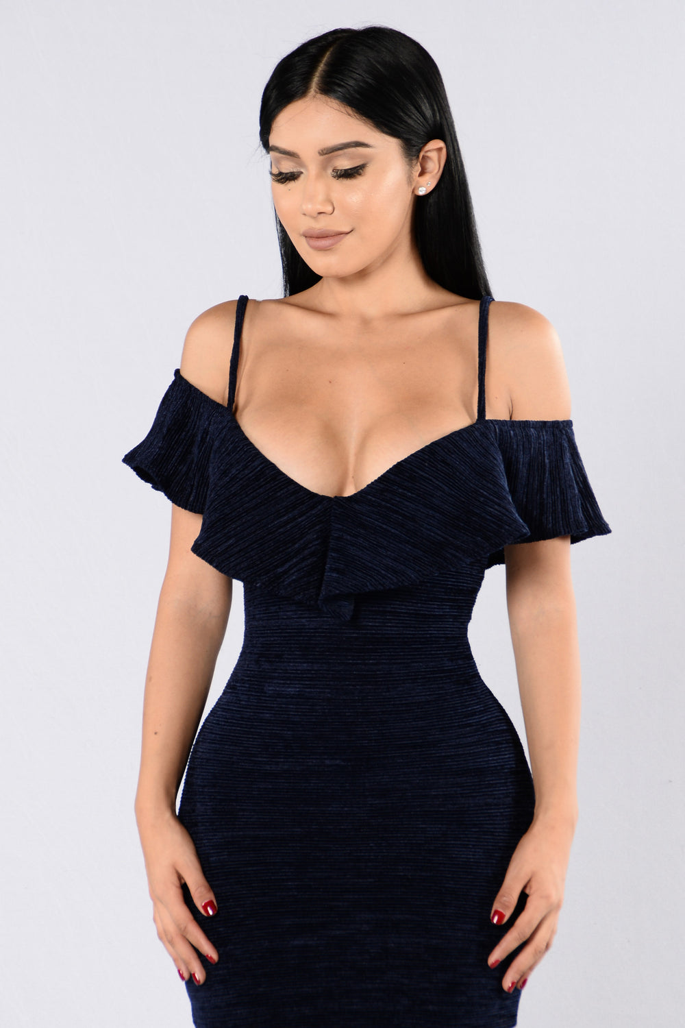 Let's Get Real Dress - Navy