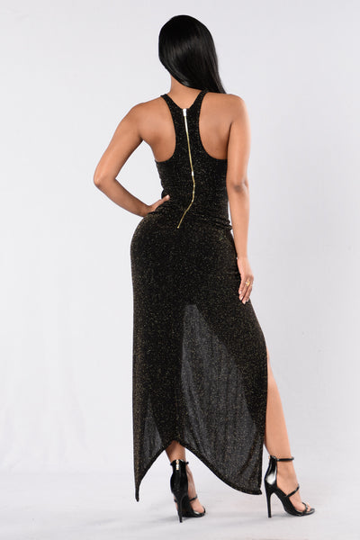 You Belong To Me Dress - Gold