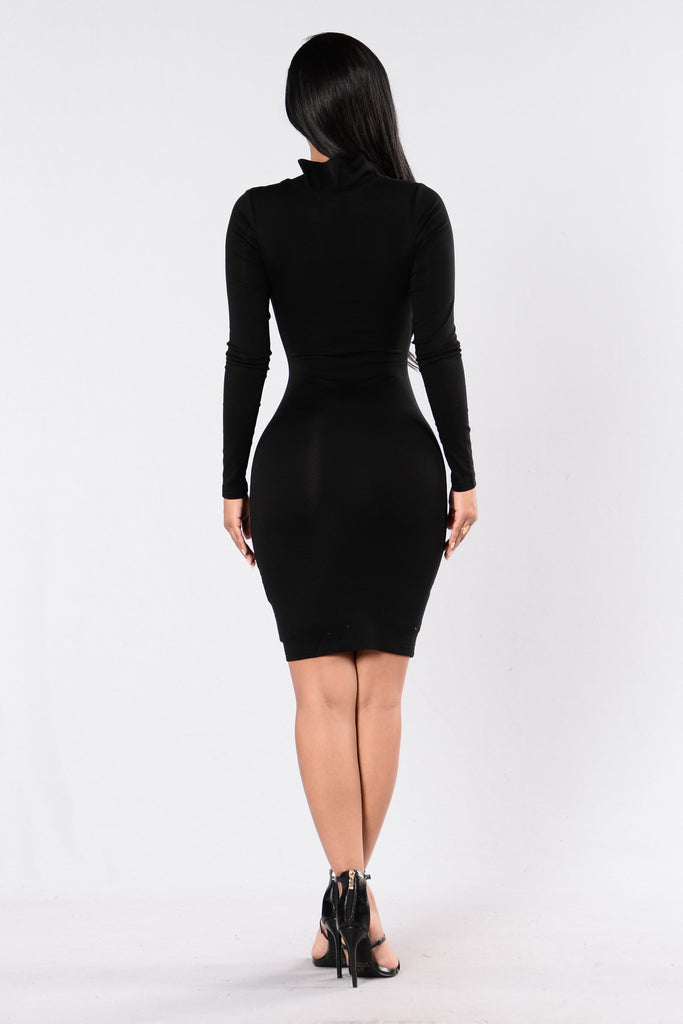 Tongue Tied Dress - Black