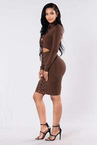 Tongue Tied Dress - Chocolate
