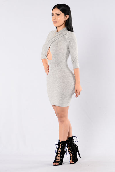 More Than A Woman Dress - Heather Grey