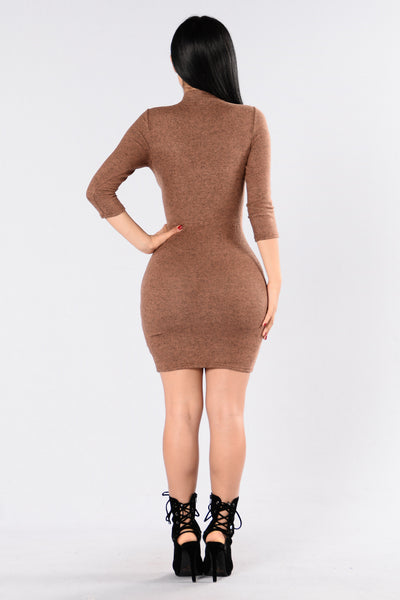 More Than A Woman Dress - Camel