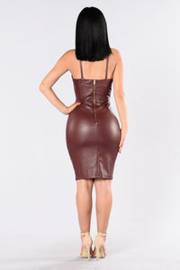 Tatiana Dress - Burgundy