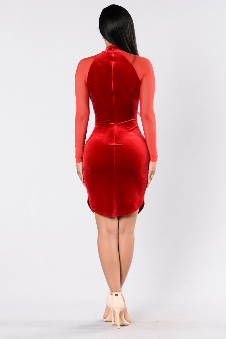 Hepburn Vibes Dress - Red