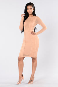 Museum Date Dress - Taupe