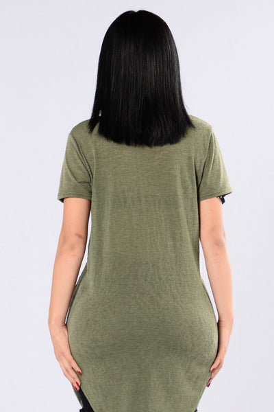 No Scrubs Tee - Olive