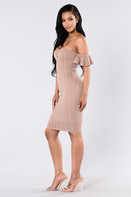 Out Of Mind Dress - Taupe