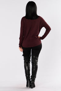 There For You Top - Burgundy