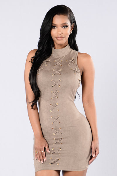 A Little More Love Dress - Taupe