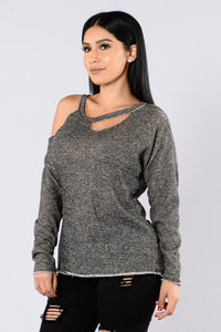 Have You Ever Been Sweater - Heather Grey