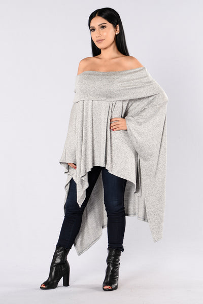 Easy Like Sunday Sweater - Heather Grey