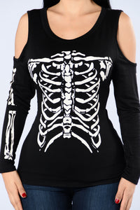 Grave Digger Top - Black/White