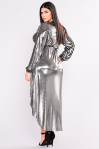 Show Your Light Metallic Dress - Silver