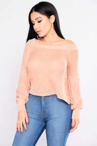 Bailey Boat Neck Sweater - Dusty Mauve