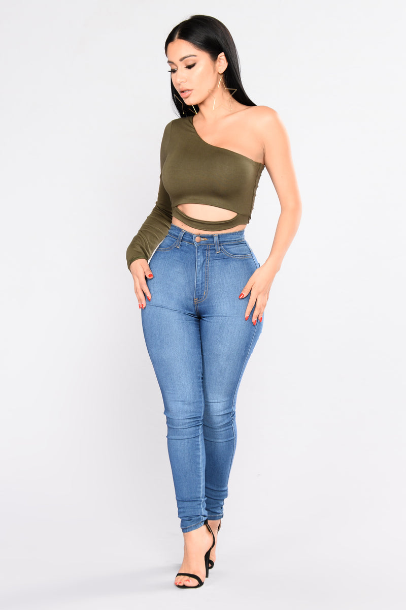 Put To The Test Top - Olive