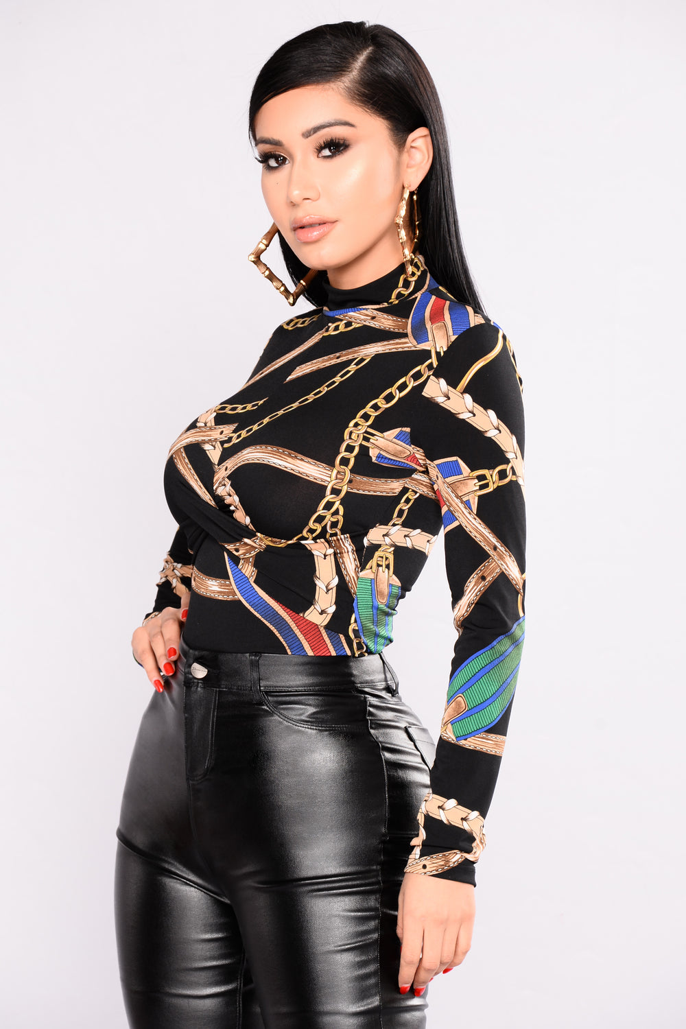 Cha Chain Bodysuit - Black