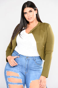 Run For Cover Moto Jacket - Olive