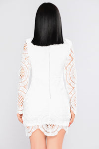 Wish You Would Crochet Dress - White