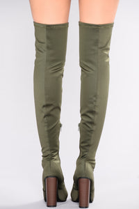 See Me In This Over The Knee Boot - Olive