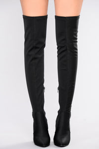 See Me In This Over The Knee Boot - Black