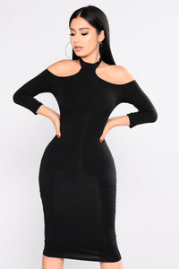 Moxie Choker Dress - Black