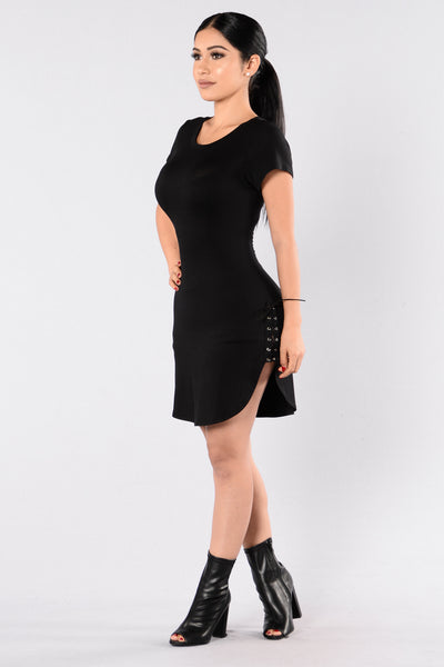 Lyin' Lover Tunic - Black