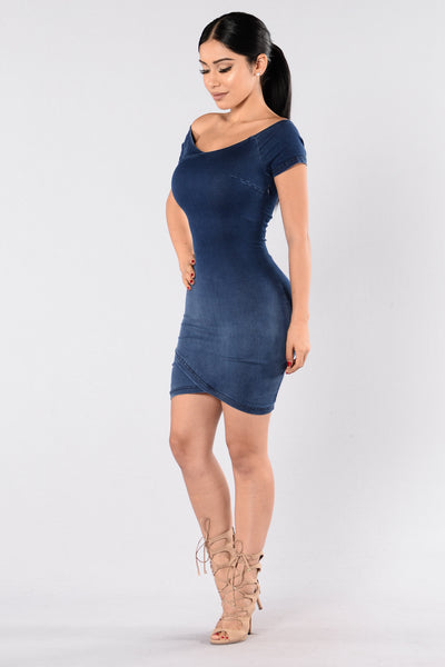Young Hearts Dress - Dark Wash