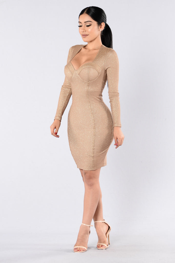 Remember This Moment Dress - Gold