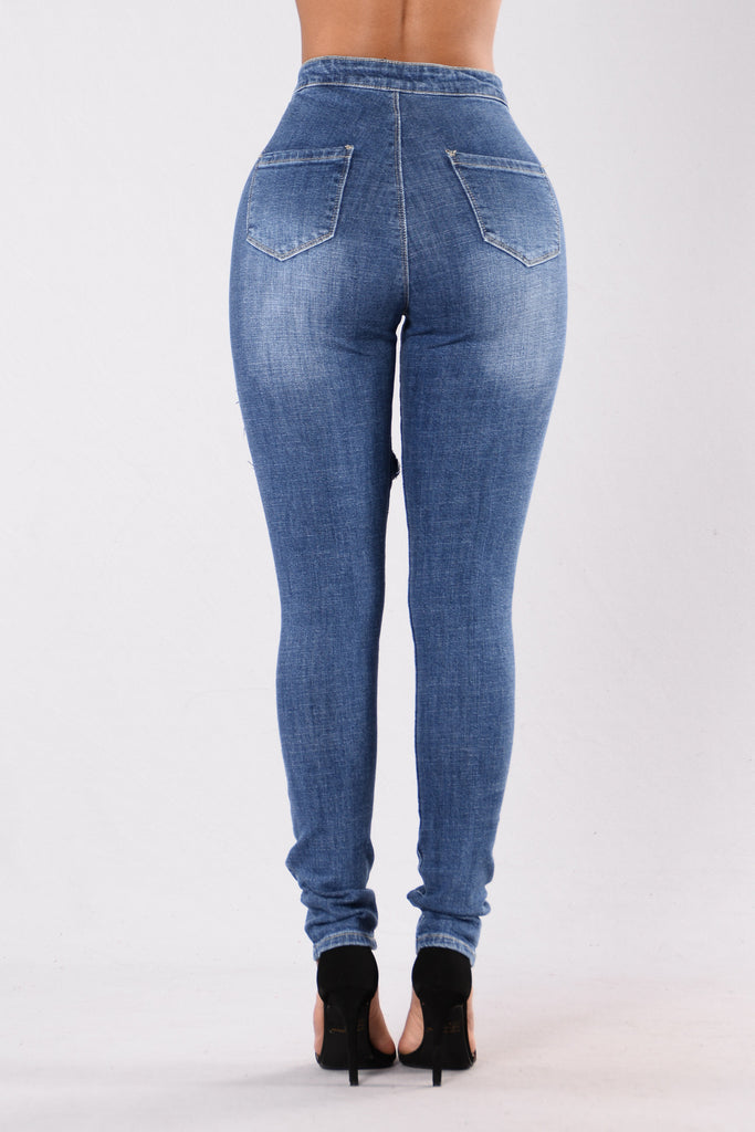Right On Track Jeans - Blue