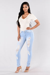 Pure Distress Jeans - Light Angle 2