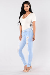 Pure Distress Jeans - Light Angle 6