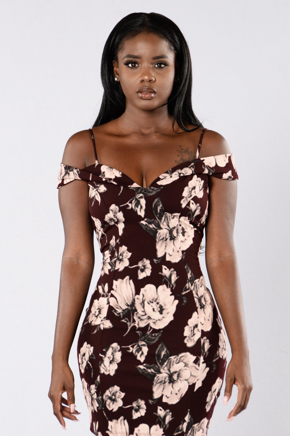 Uniquely Yours Dress - Deep Burgundy